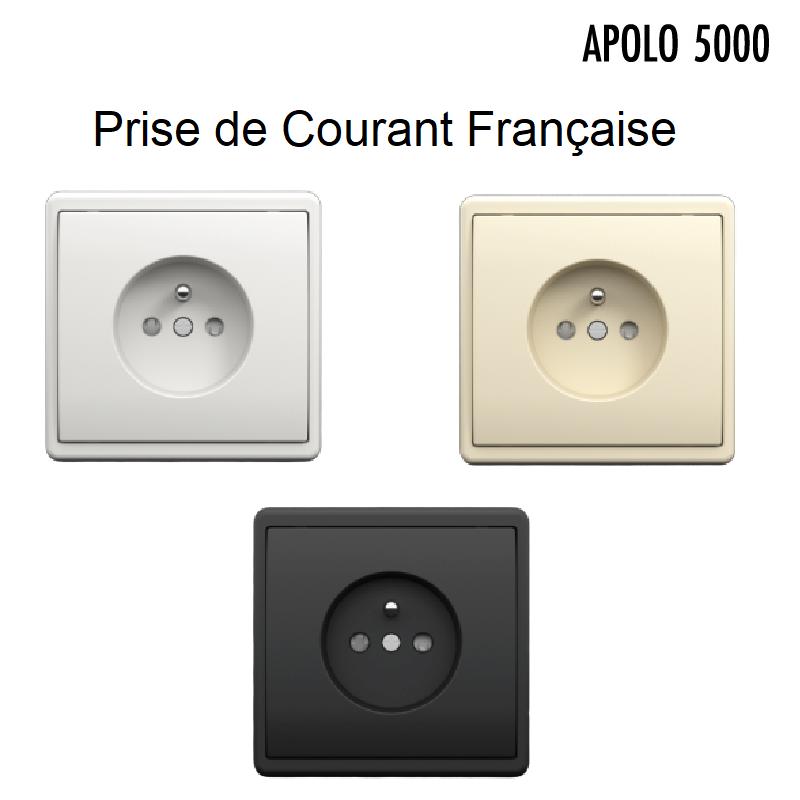 Prise de courant 2P+T Complète APOLO 5000 Standard ou MAT