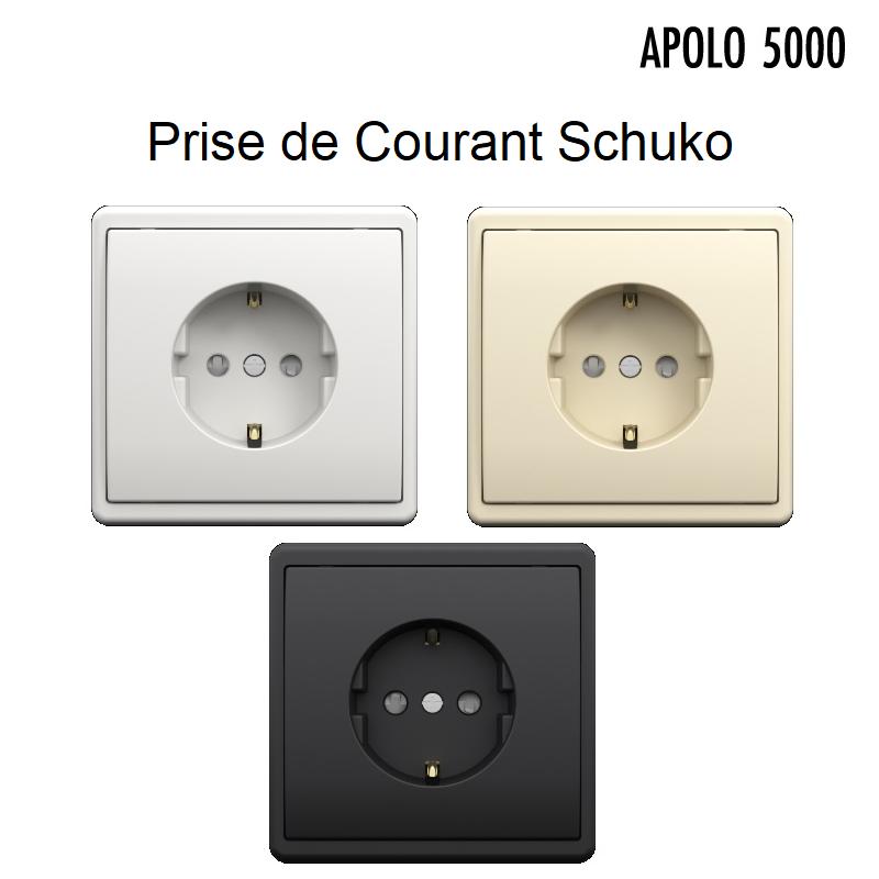 Prise de courant Schuko avec protection - APOLO 5000 Standard ou MAT