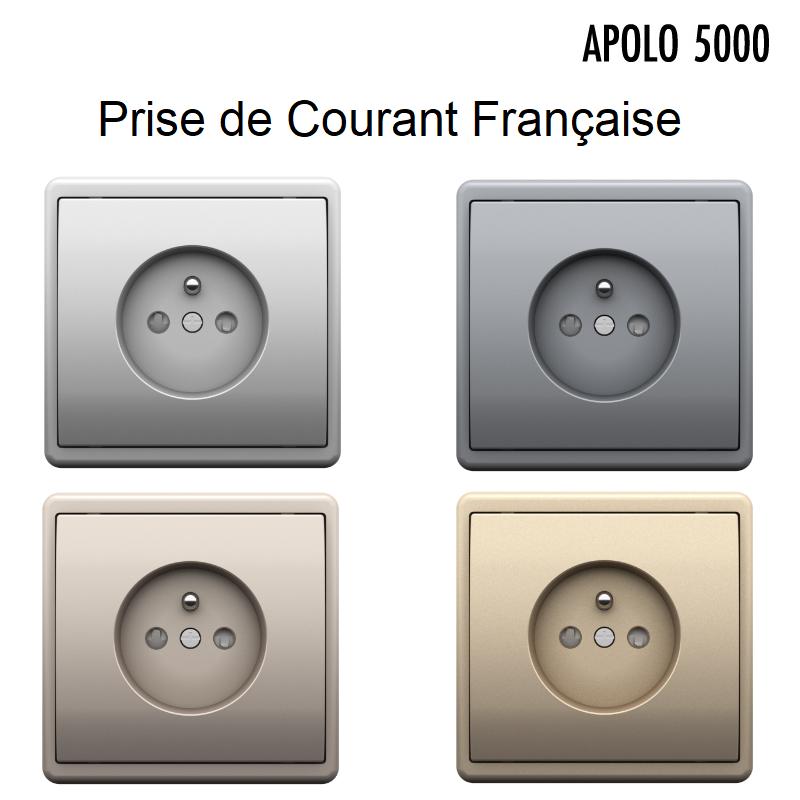 Prise de courant 2P+T Complète APOLO 5000 Métal