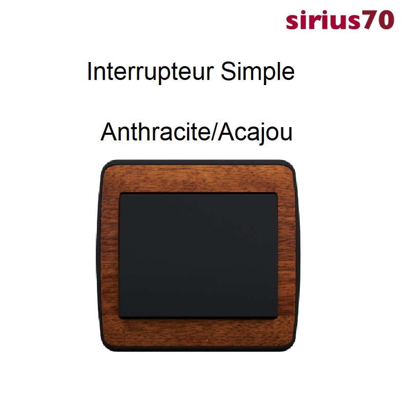 Interrupteur sirius70 Bois Complet - Anthracite