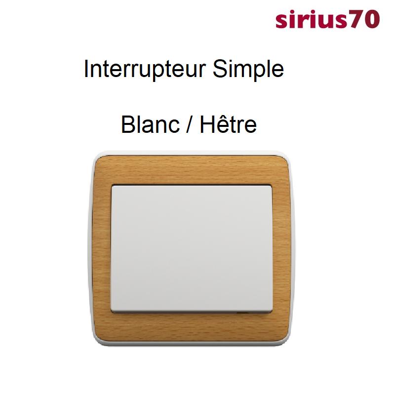 Interrupteur sirius70 Bois Complet - Blanc