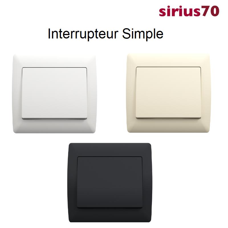 Interrupteur sirius70 Classique Complet