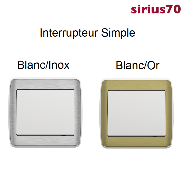 Interrupteur sirius70 Métal / Blanc Complet