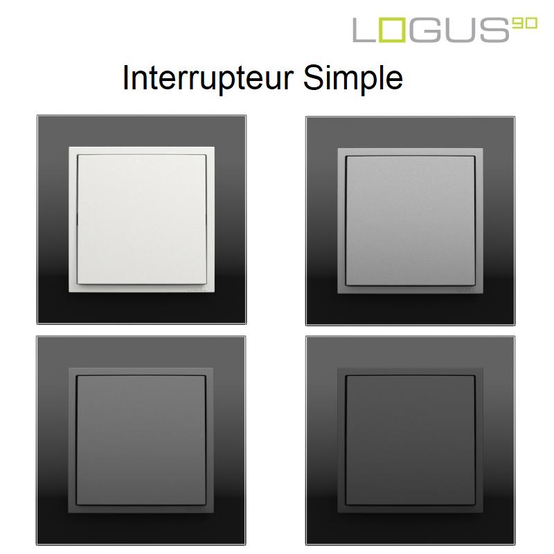 Interrupteur Simple - Logus90 CRYSTAL NOIR