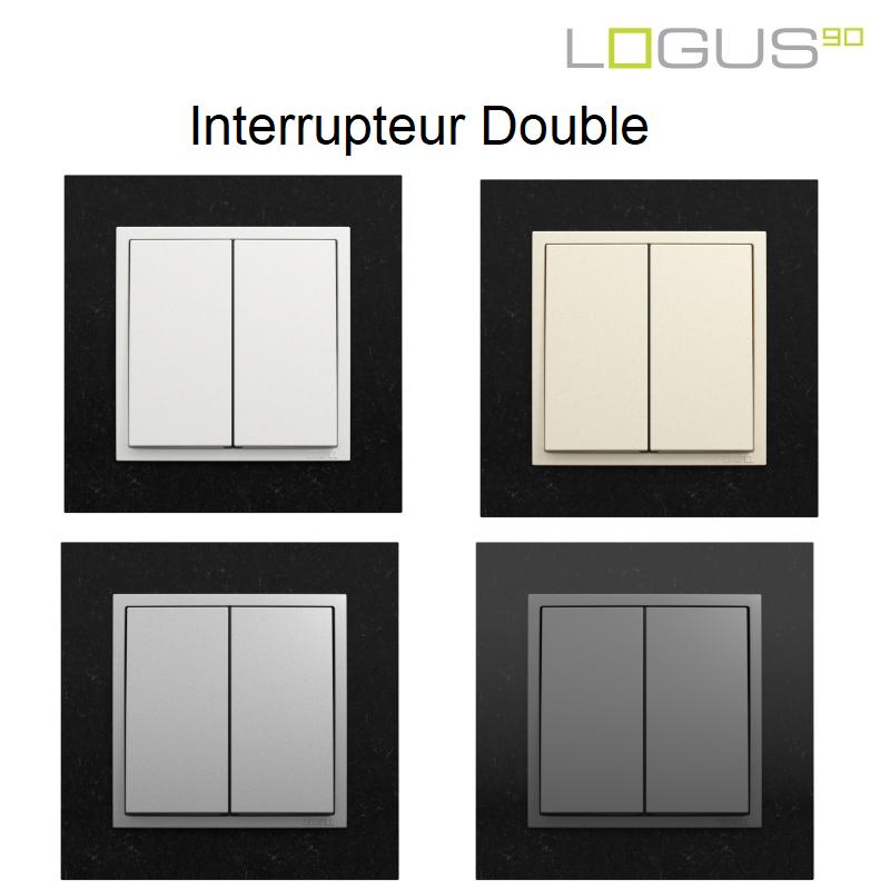 Interrupteur Double - Logus90 PETRA