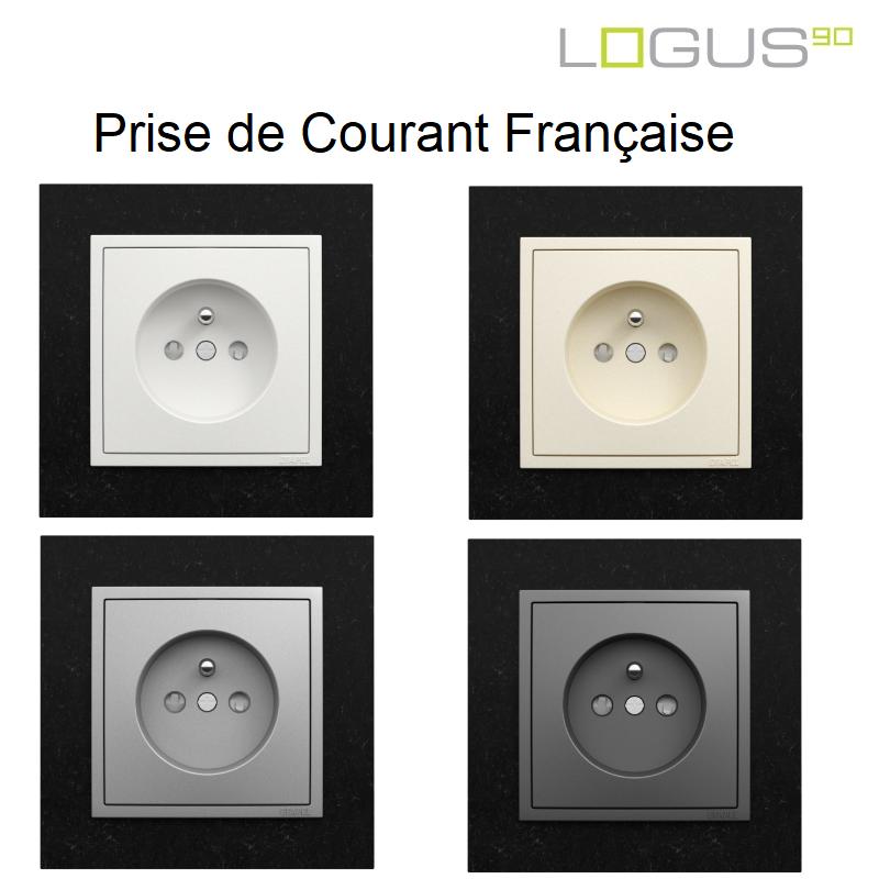 Prise de courant Française 2P+T - Logus90 PETRA