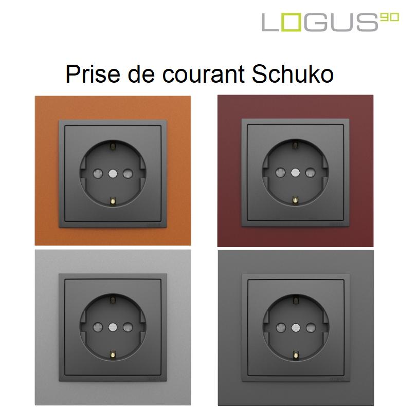 Prise de courant Schuko Logus90 - Animato Gris