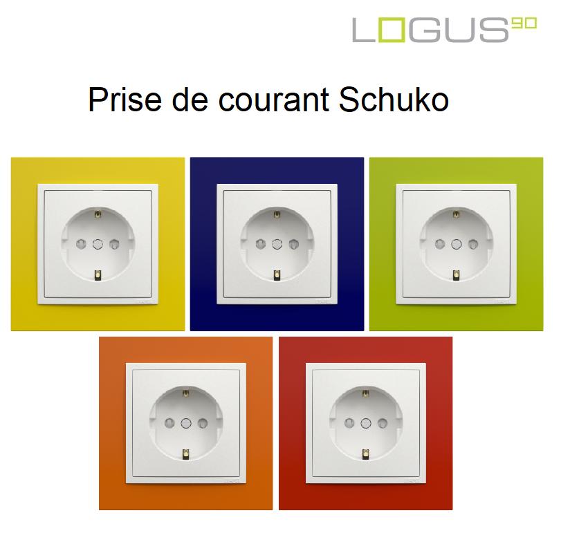 Prise de courant Schuko Logus90 - Animato Couleur