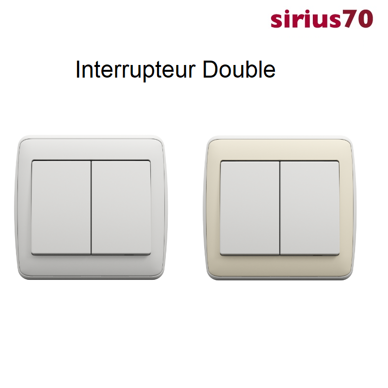 Interrupteur Double Sirius 70 - AMBIANT