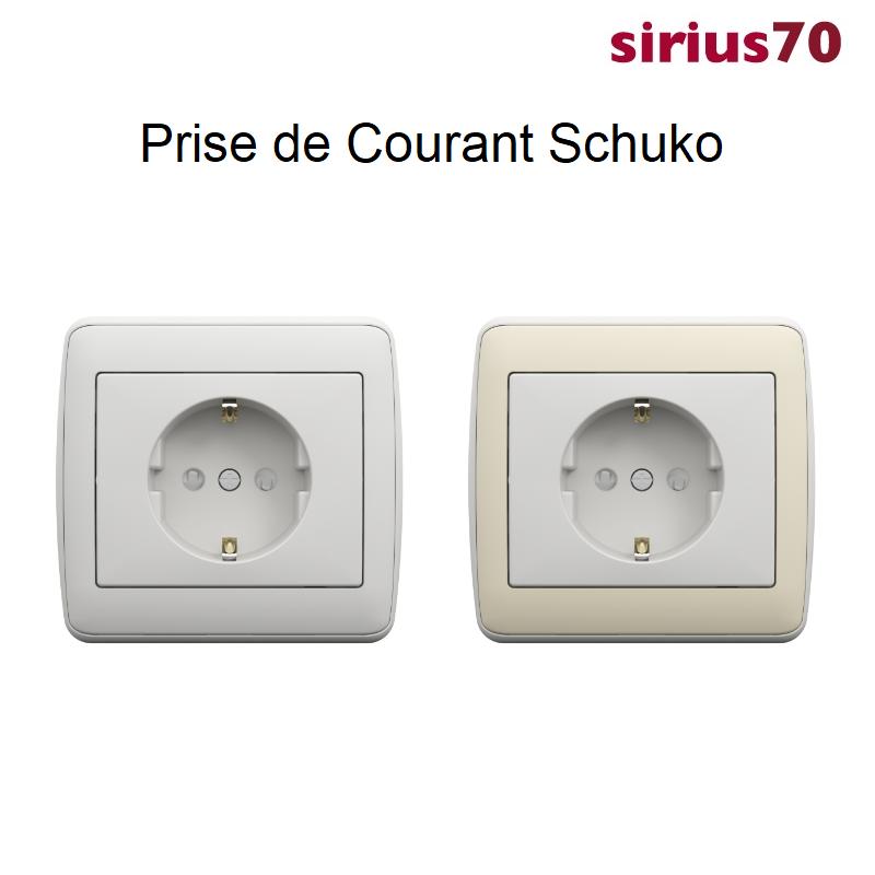 Prise de Courant Schuko Sirius 70 - Ambiant
