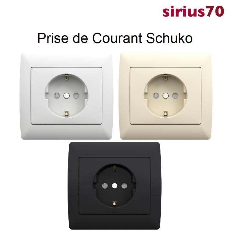 Prise de Courant Schuko Sirius 70 - Classique