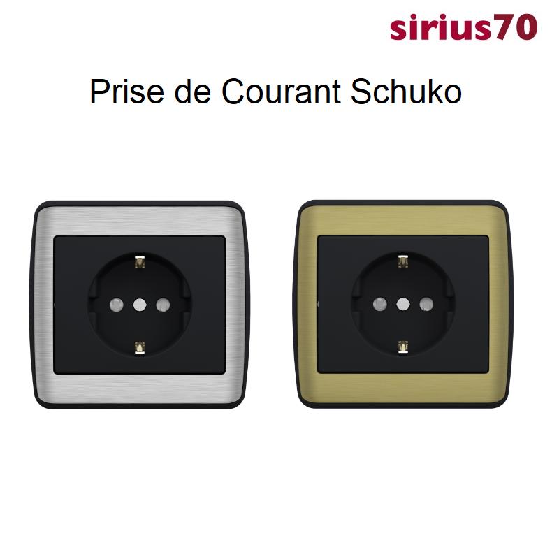 Prise de Courant Schuko Sirius 70 - METALLO Anthracite