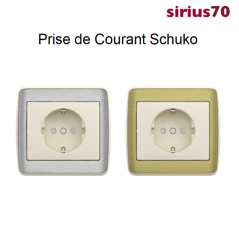 Prise de Courant Schuko Sirius 70 - METALLO Ivoire
