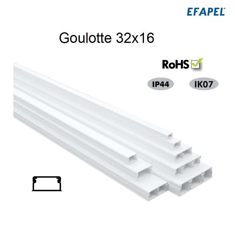 Goulotte Moulure 32 x 16 mm