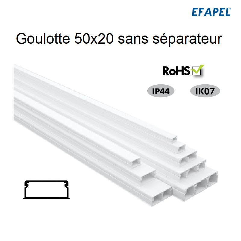 Goulotte Moulure 50 x 20 mm