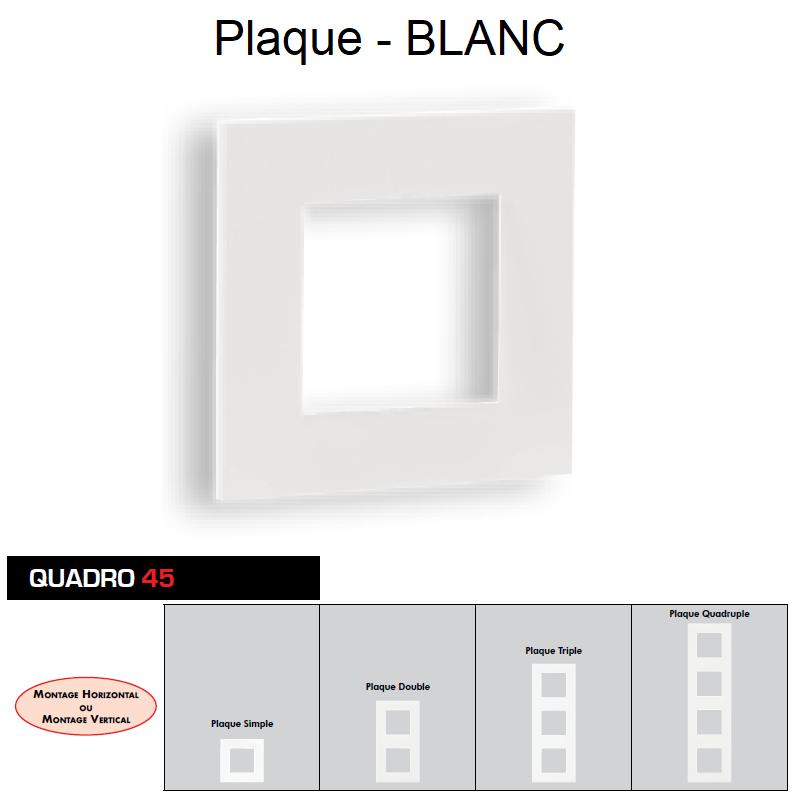 Plaque Quadro45 Blanche
