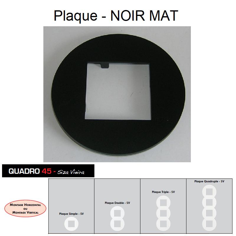 Plaque QUADRO45 Siza Vieira - Noir MAT