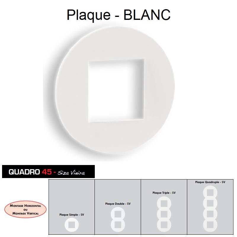 Plaque Quadro45 Ronde Blanche