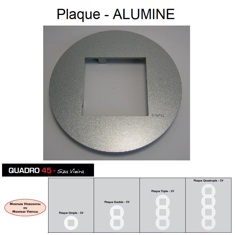 Plaque Quadro45 Ronde Alumine