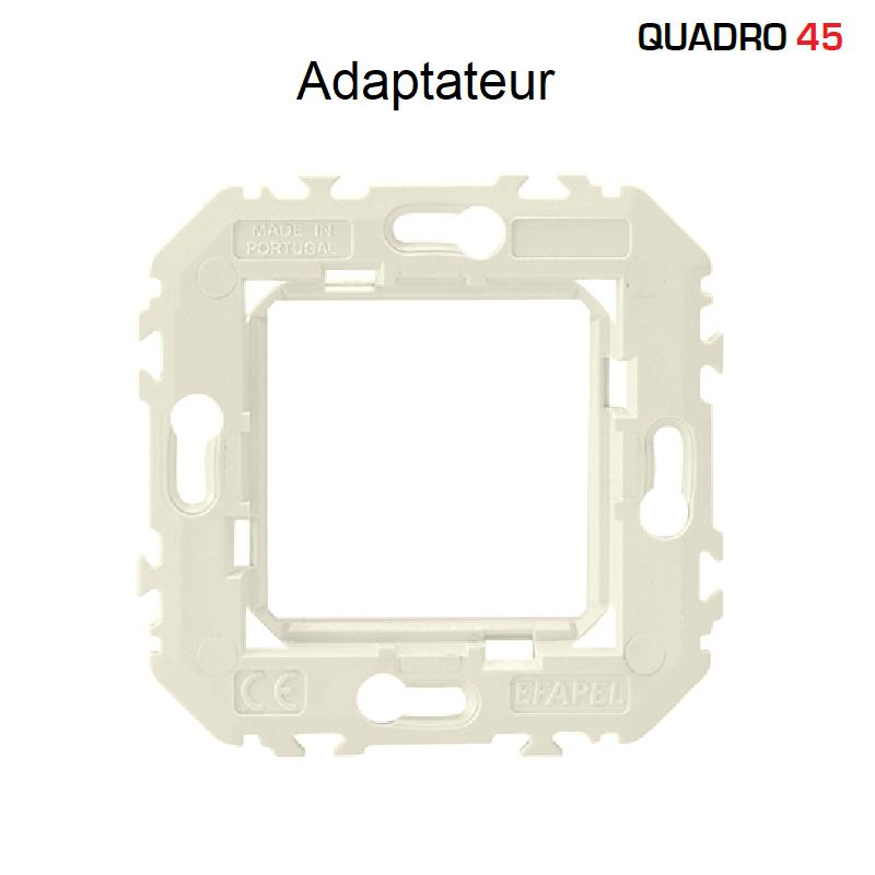 Adaptateur Q45 pour appareillage à encastrer