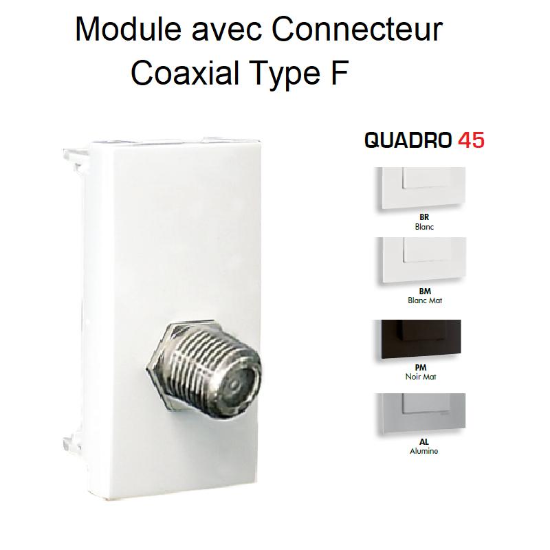 Module avec Connecteur Coaxial Type F - 1 Module QUADRO 45