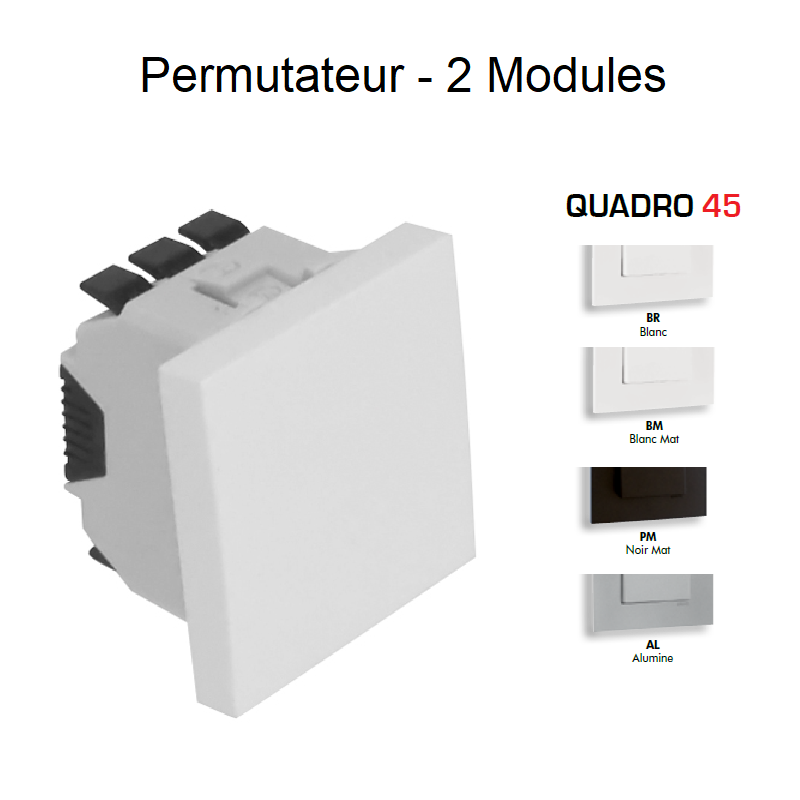 Permutateur Semi-Assemblé 2 Modules - QUADRO 45