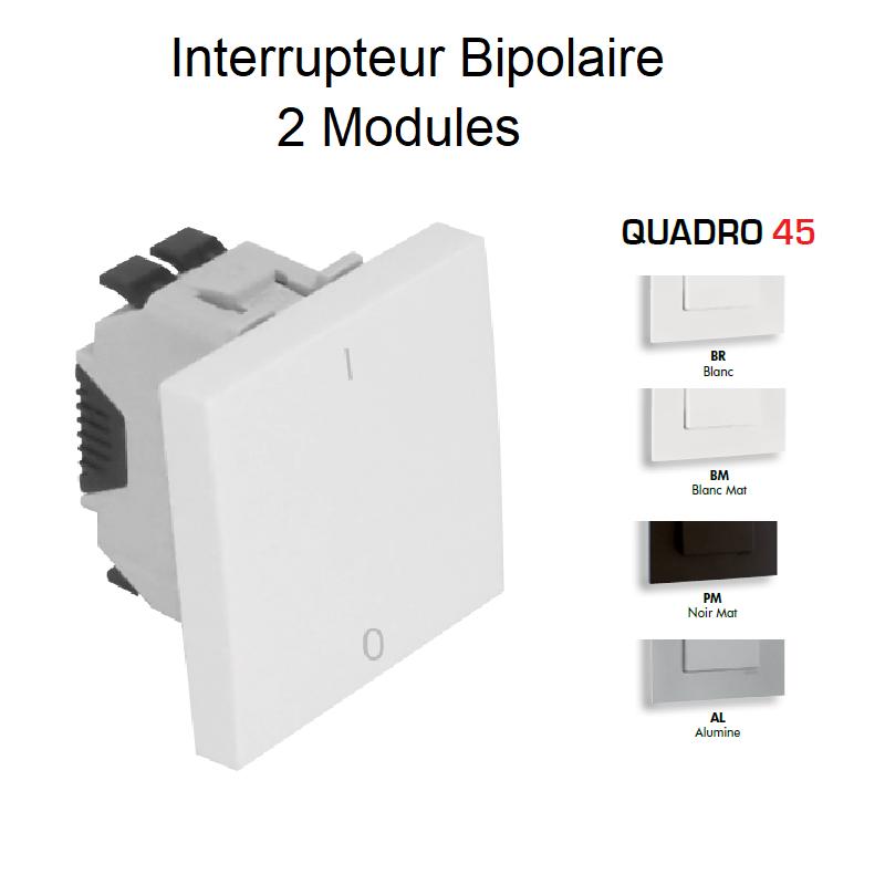 Interrupteur Bipolaire Semi-Assemblé QUADRO45 - 2 Modules