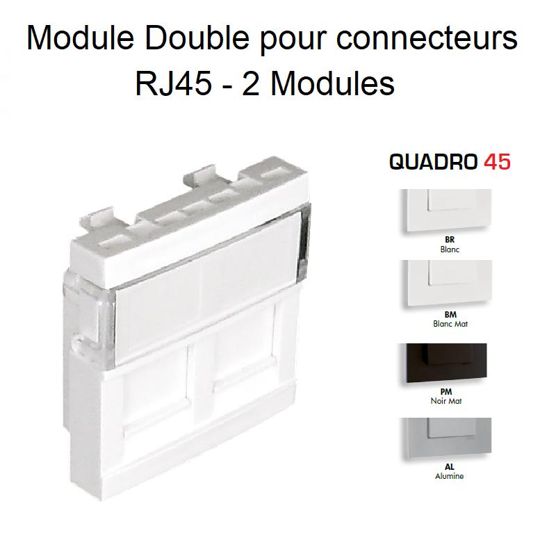 Module Double pour Connecteurs RJ45 - 2 Modules Quadro45