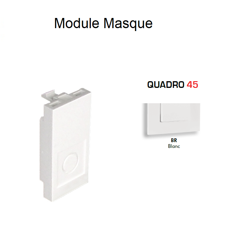 Module masque - 1 module BLANC