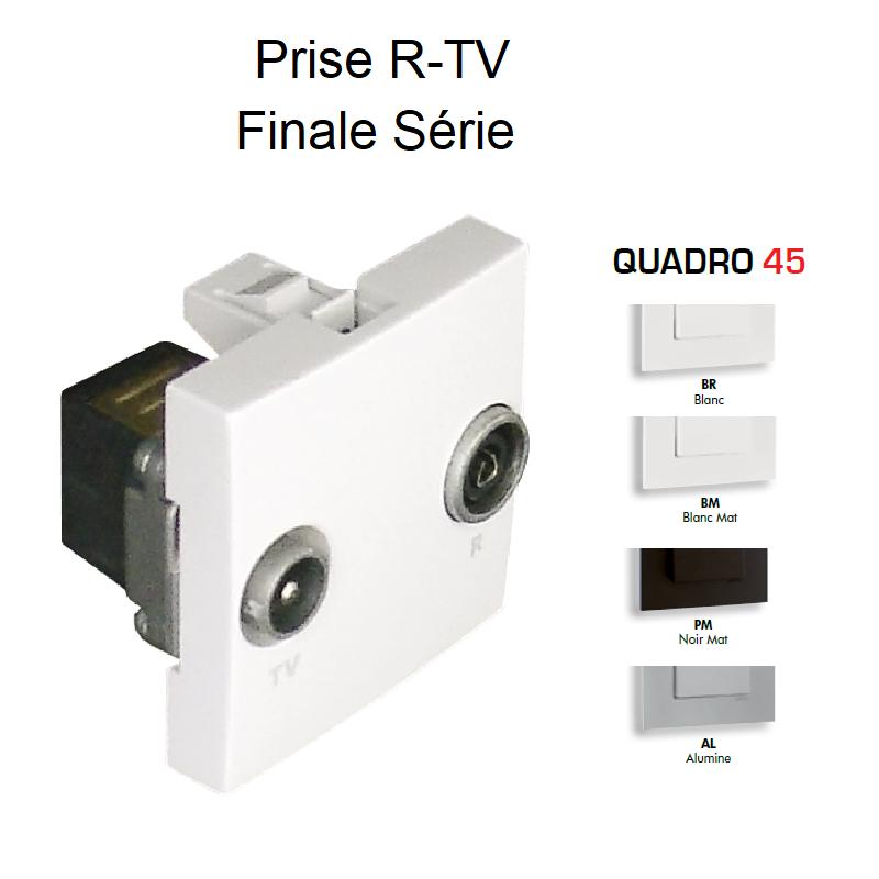 Prise R-TV Finale Série - 2 Modules QUADRO 45