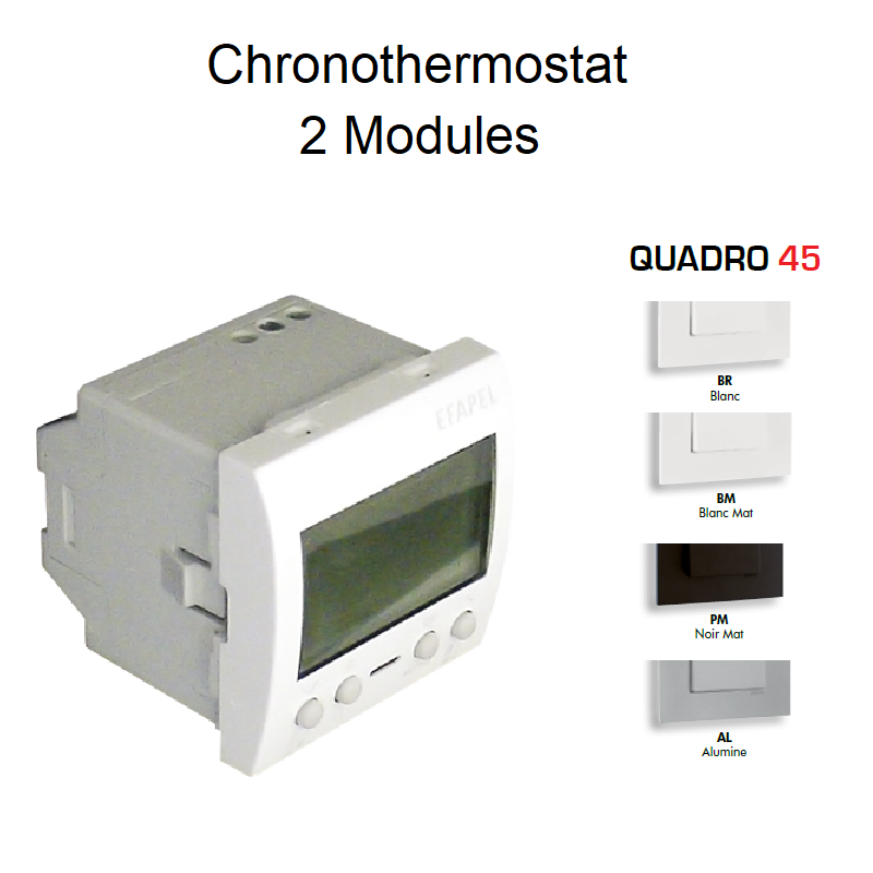 Chronothermostat 2 Modules - QUADRO 45