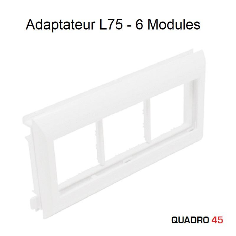 Adaptateur Q45 Couvercles L75 - 6 Modules
