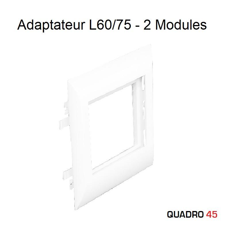 Adaptateur Q45 Couvercles L60/75 - 2 Modules