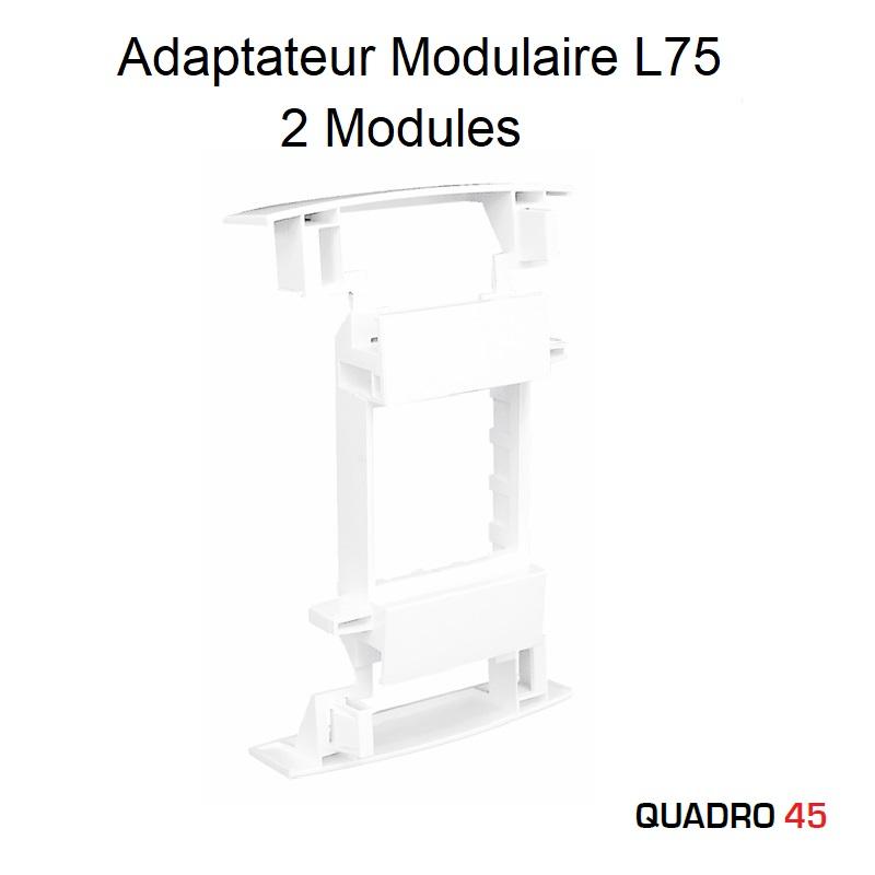 Adaptateur Modulaire Q45 pour Goulottes avec couvercle L75 - 2 Modules