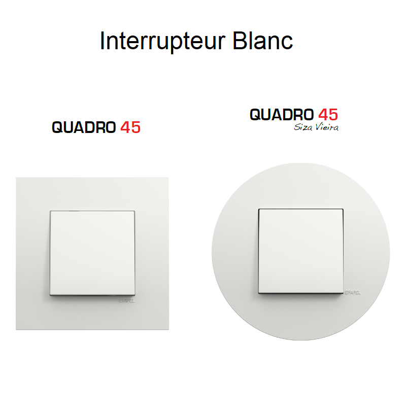 Interrupteur Complet Quadro 45 - BLANC