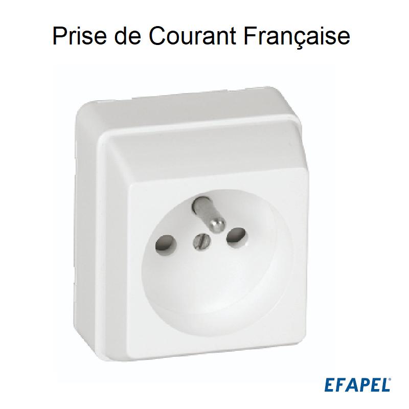 Prise de Courant Française 2P+T Connexion par vis - Série 3700