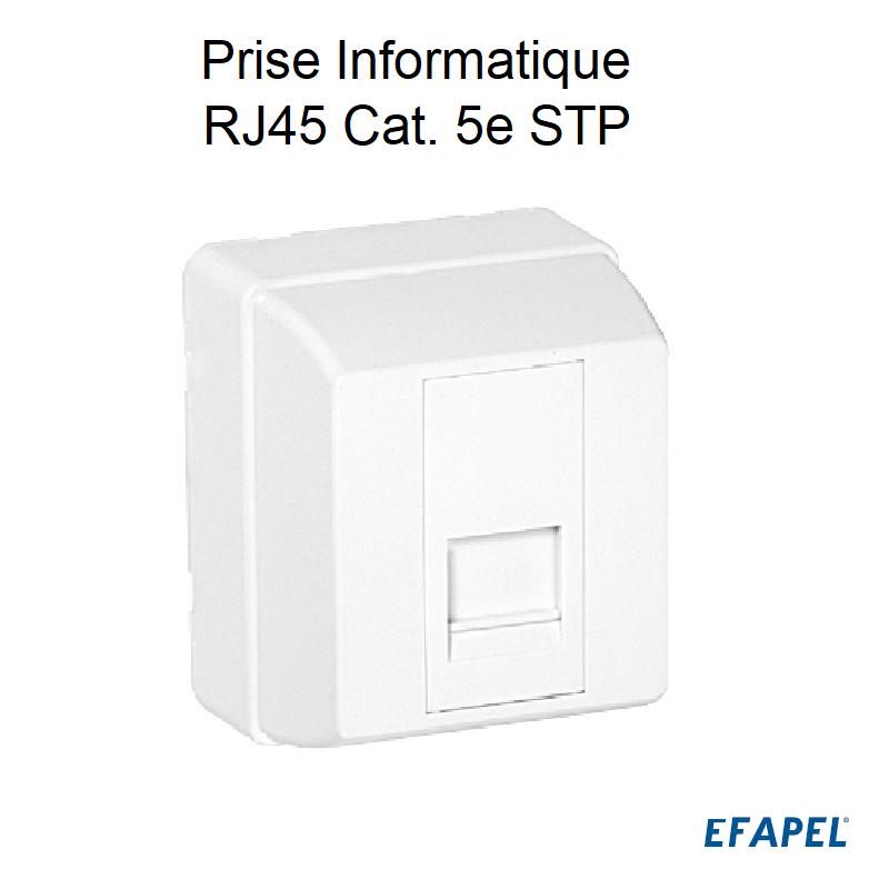Prise Informatique RJ45 Cat. 5e STP - 1 Sortie Blanc