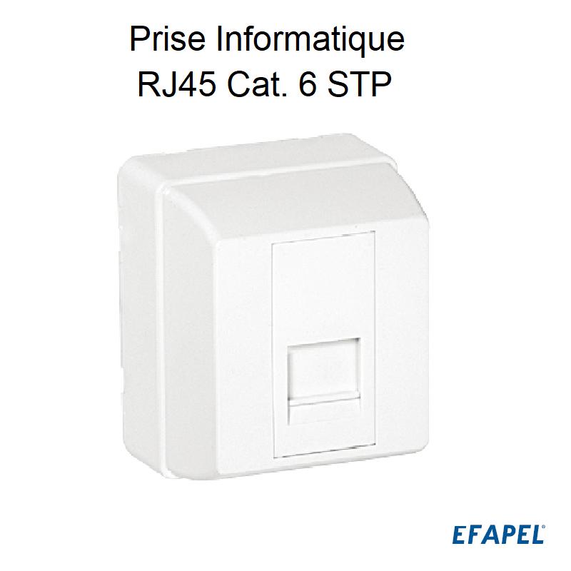 Prise Informatique RJ45 Cat. 6 STP - 1 Sortie Blanc
