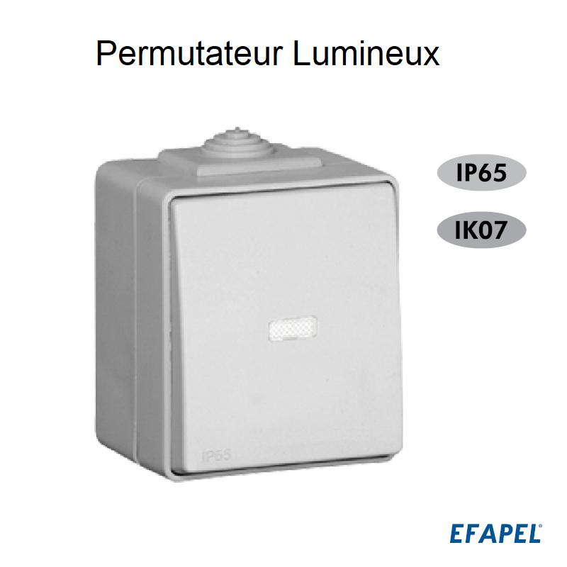 Permutateur Lumineux IP65 Gris ou Blanc