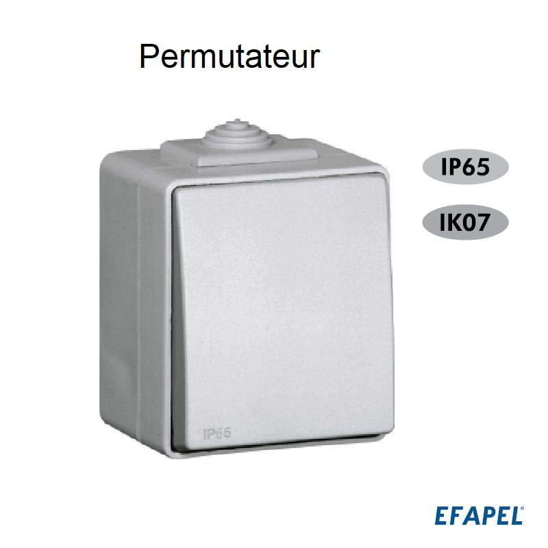 Permutateur IP65 Gris ou Blanc