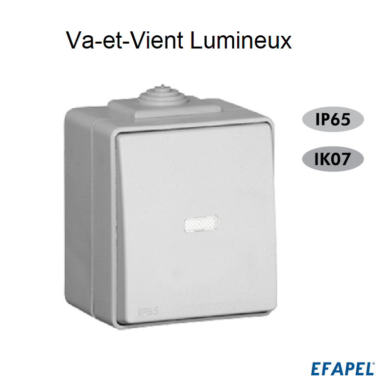 Interrupteur Va-et-Vient Lumineux IP65