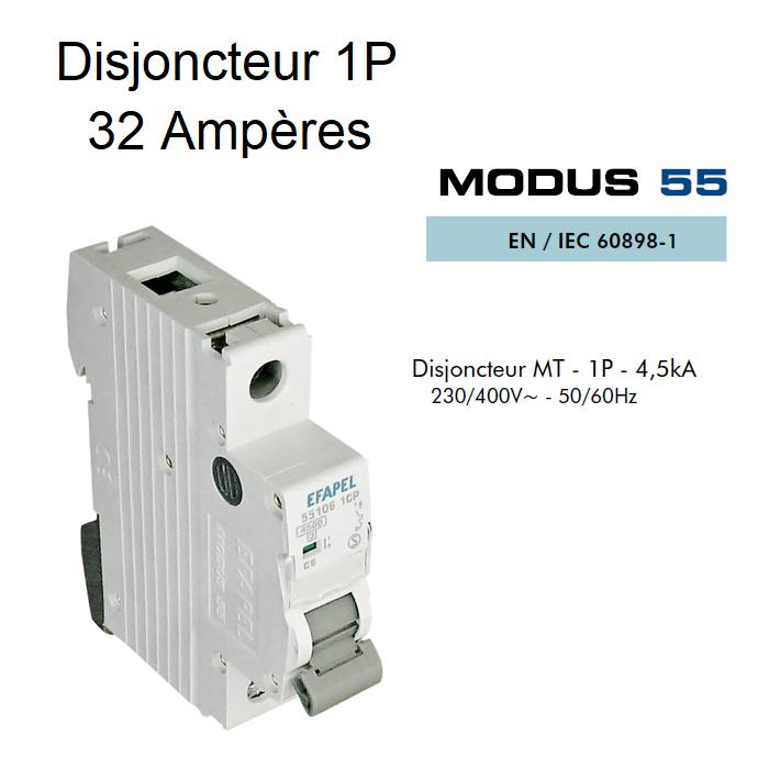 Disjoncteur Magnétothermique PLUS - 1P - 4,5kA - 32A
