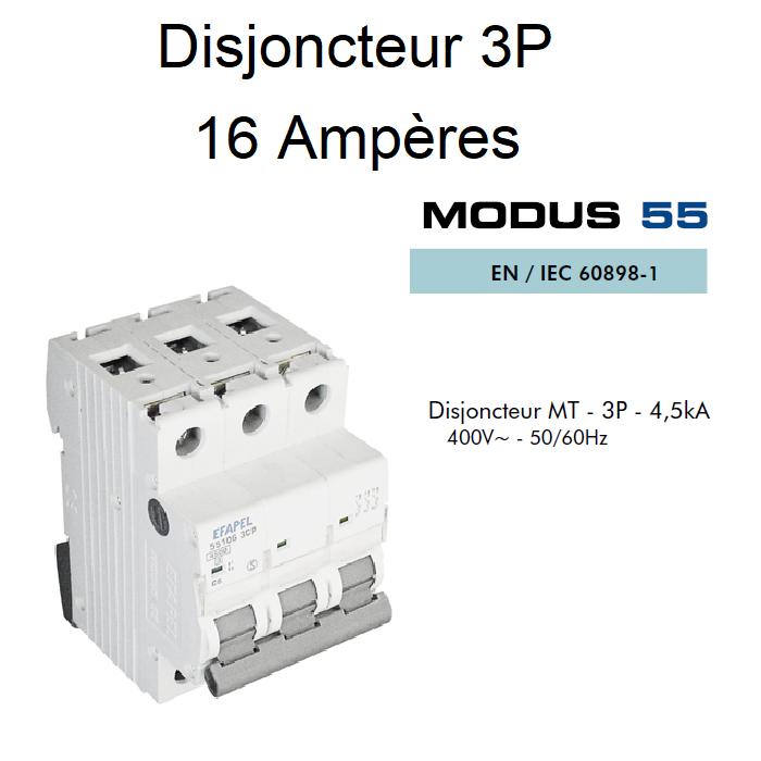 Disjoncteur Magnétothermique - 3P - 4,5kA - 16A