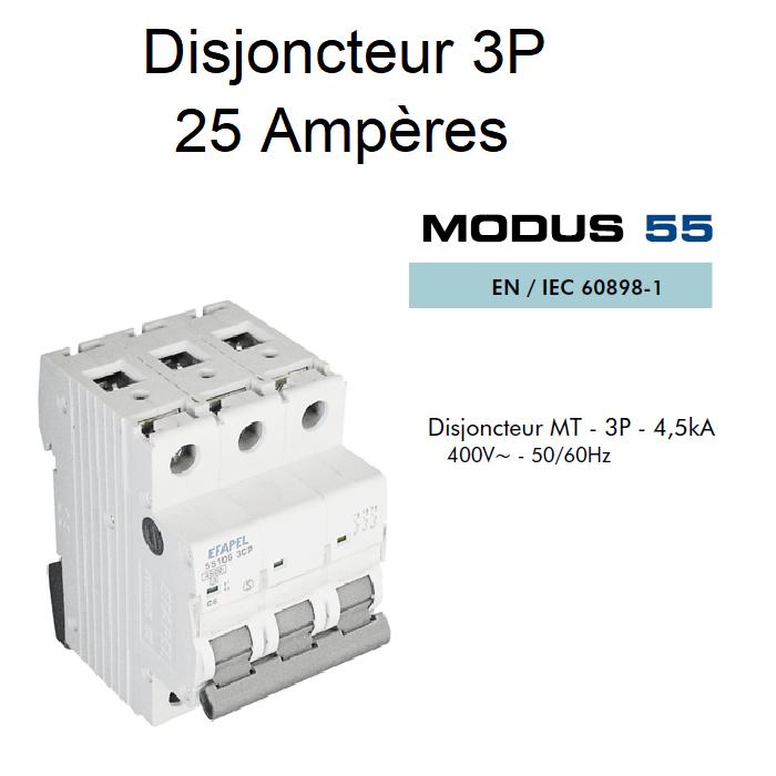 Disjoncteur Magnétothermique - 3P - 4,5kA - 25A
