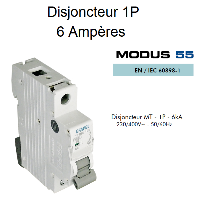 Disjoncteur Magnétothermique PLUS - 1P - 4,5kA - 6A