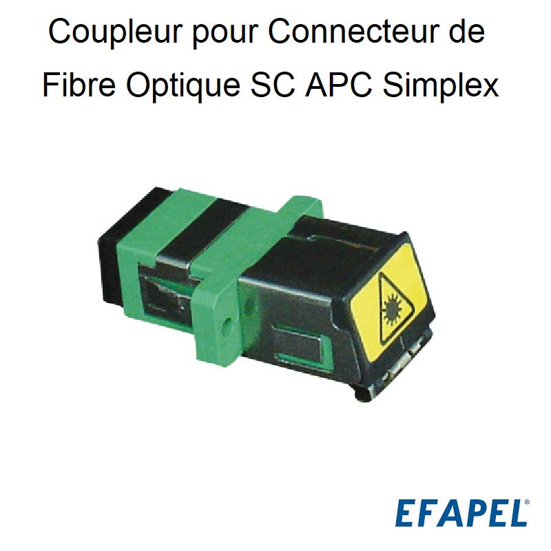 Coupleur pour Connecteur de Fibre Optique SC APC Simplex