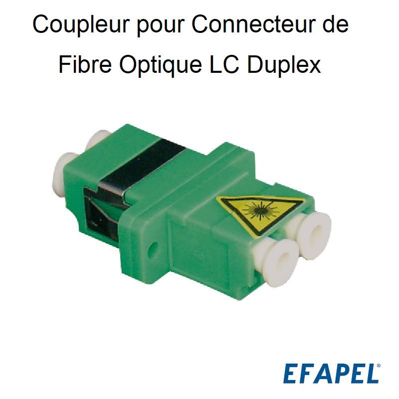 Coupleur pour Connecteur de Fibre Optique LC Duplex
