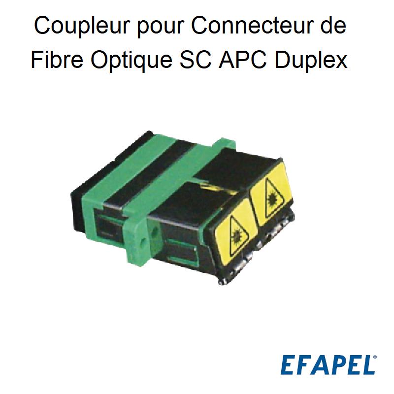 Coupleur pour Connecteur de Fibre Optique SC APC Duplex