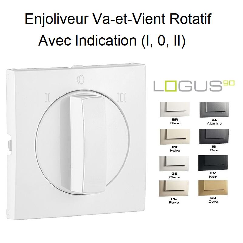 Enjoliveur Va-et-Vient Rotatif avec Indication (I,0,II) - LOGUS 90