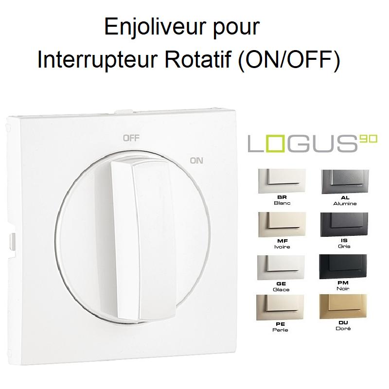 Enjoliveur pour Interrupteur Rotatif ON/OFF - LOGUS 90